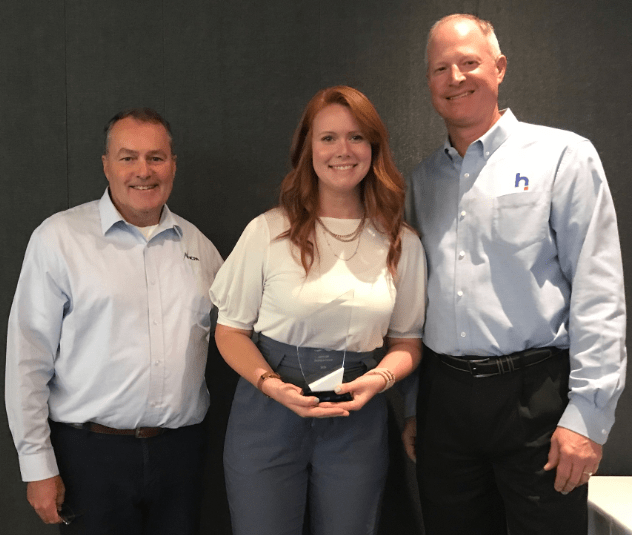 Pictured left to right: Randy Howard, General Manager, Northern California Power Agency; HCI Chair; Stephanie Johndrow, Key Account Manager Apogee, Tim Blodgett, President & CEO, Hometown Connections